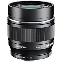 Olympus M.ZUIKO DIGITAL ED 75mm f1.8 (Black) Lens for Olympus and Panasonic Micro 4/3 Cameras