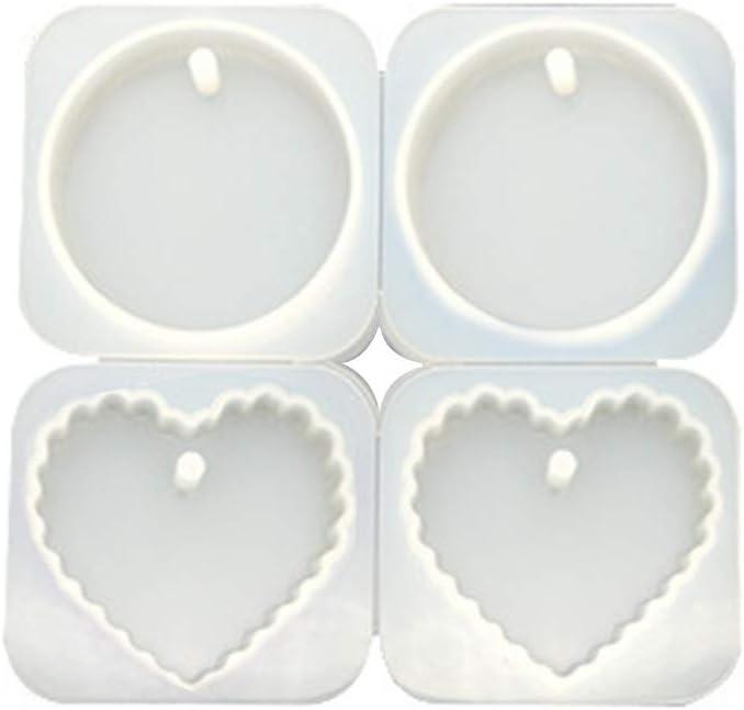 Lot de 2 moules /à bijoux en r/ésine /époxy en forme de coquillages