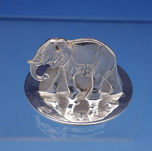 (English Sterling Silver Place Card Holder with Elephant Circa 2001 (#3165))