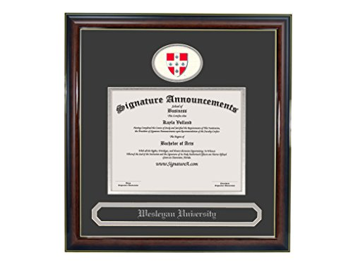 - Signature Announcements Wesleyan-University Undergraduate, Sculpted Foil Seal & Name Graduation Diploma Frame 16