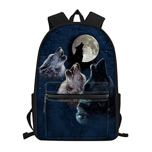 (Showudesigns Kids Backpack Boys for 2Nd Grade / 3Rd Grade / 4Th Grade / 5Th Grade / 6Th Grade Wolf Roar Print School Bag Elementary Girls Bookbags Middle School)
