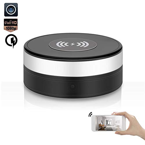 Hidden Camera WiFi 1080P HD Spy Camera Wireless Charger 90? Lens Rotate Video Recorder Motion Detection Nanny Cam