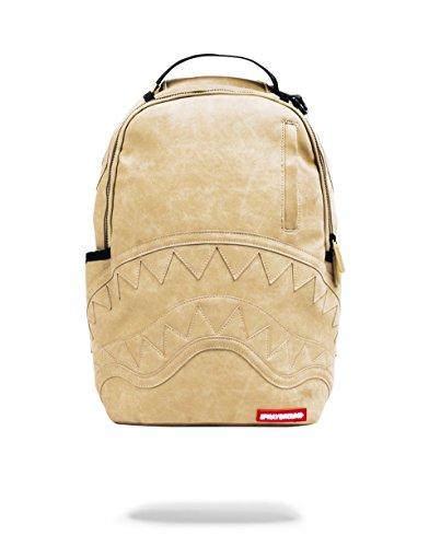 Sprayground Beige Leather C&S Backpack