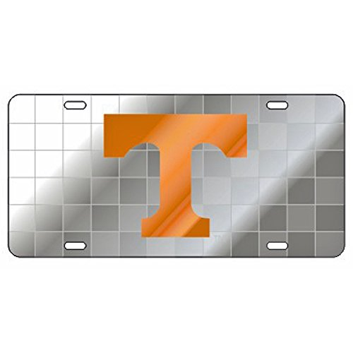 (Tennessee Volunteers Checkerboard Background Laser Cut License Plate)