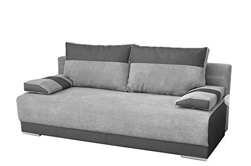 mb-moebel Couch mit Schlaffunktion und Bettkasten Sofa Schlafsofa ...