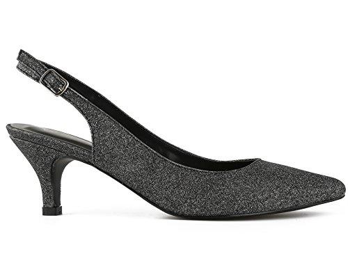 36 41 et pour B Classics sur EU Chaussures Femmes Boucles avec des Sangles Talon Greatonu des Les Noir Espigones Le à Dos wU86qT