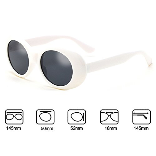 Homme Lunettes Femme Highdas Blanc soleil Oval de UV400 wpzWfFUq4