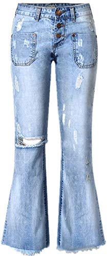 Femme Stretch Sen Jeans En Femmes Pantalo Colour Hx Denim Bleu Fashion Pantalon Basic Trous aZEqT