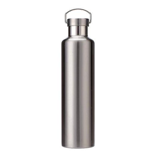DUDDP botella de agua para deportes Frasco de agua de acero ...