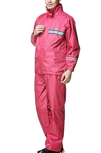 Pluie Vêtements Avec De Combinaison Imperméables Adultes Bandes Visibilité Haute Manteaux Icegrey Pantalons Et Rose Réfléchissantes gXR5qpx