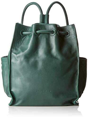 Liebeskind Berlin - Drawstring Backpack Medium, Bolsos mochila Mujer, Verde (Dark Green), 11x33x27 cm (W x H L)