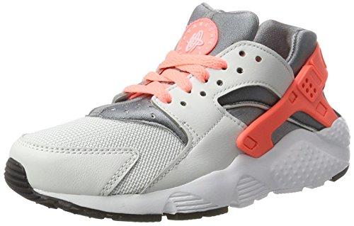 nike huarache run (GS) trainers 654280 sneakers shoes (4.5 US BIG KID, pure platinum lava glow 010)