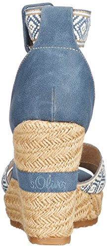 S.oliver Ladies 28307 Sandali Con Il Cinturino Blu (pettine Denim)