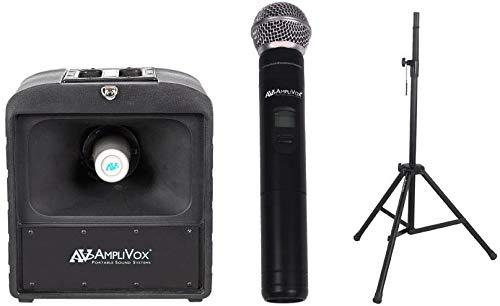Amplivox SW6822 Basic Wireless Mega Hailer Bundle with Handheld Microphone from Amplivox