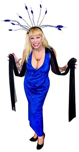 Sanctuarie Designs Women's Medusa / ECONOMY/ Plus Size Supersize Halloween Kit/4xT/Blue/ (Medusa Plus Size Costume)