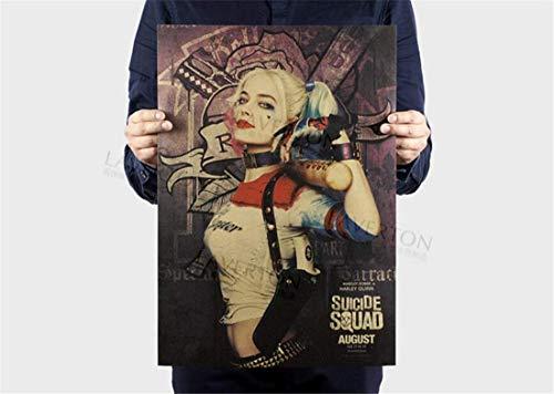 LOSOUL Retro Nostalgia Classic Movie Poster Kraft Paper Wall Sticker Decoration Wall Sticker51.5X35Cm