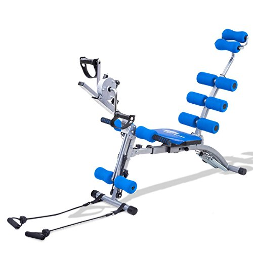 Multi-functional Twister AB Rocket Abdominal Trainer Bench Stepper - Blue by Apontus