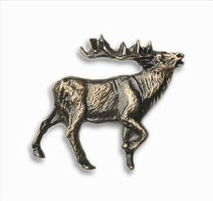 Buck Snort Hotel r-stico 271 Caminando Elk Cabinet Knob - Cara Derecha