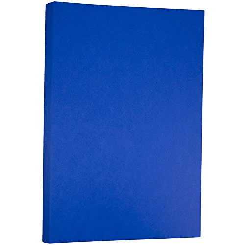 - JAM PAPER Ledger 65lb Cardstock - 11 x 17 Tabloid Coverstock - Presidential Blue Recycled - 50 Sheets/Pack