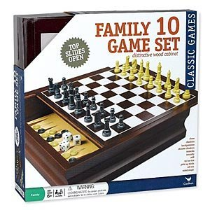 - Cardinal Family 10 Game Set in a Distinctive Wood Cabinet