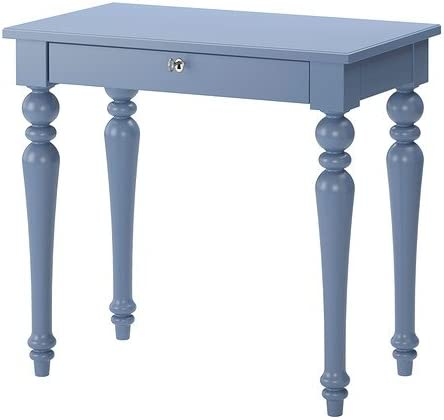 IKEA ISALA - mesa de ordenador portátil, azul - 80x45 cm: Amazon ...