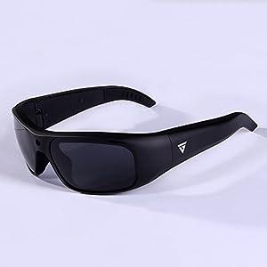 GoVision Apollo 1080p HD Camera Glasses Water Resistant Video Recording Sport Sunglasses - Black