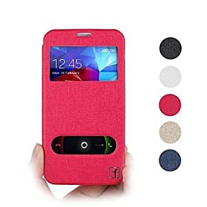ZX Protective PU Leather Full Body Case with Stand and Card Slot for Samsung Galaxy S5 I9600 Assorted Colors , Golden