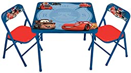 Disney Cars Hometown Heroes Erasable Activity Table Set with 3 Markers