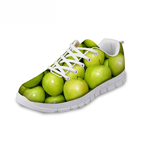 太い動員する忠実なFOR U DESIGNS(JP) スニーカー メッシュ 軽量 通気性 創意的 果物柄