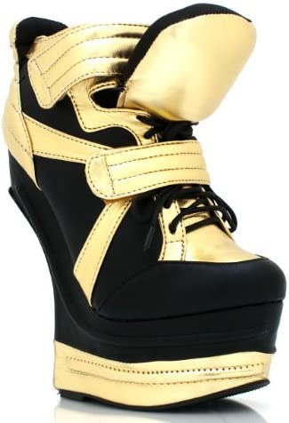 Gold Wedge Fashion Sneakers Heel