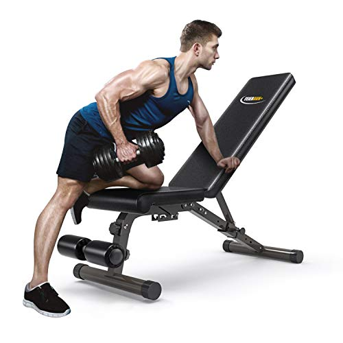FEIERDUN Adjustable Weight Bench-Incline & Decline to Make A Full Body Workout Foldable Bench