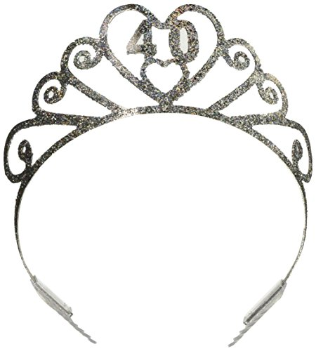 Glittered Tiara Party Accessory count