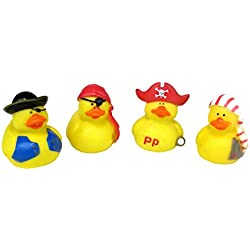 Generic One Dozen Mini Pirate Rubber Ducks, Yellow