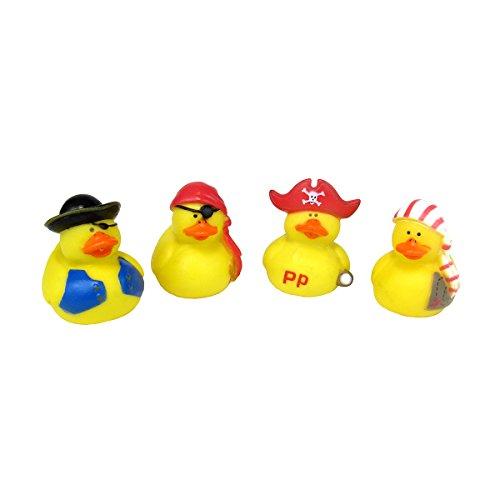 Generic One Dozen Mini Pirate Rubber Ducks, Yellow