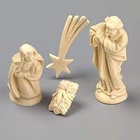 efco–Figuras de belén en Miniatura 40mm, 4Piezas, Marfil