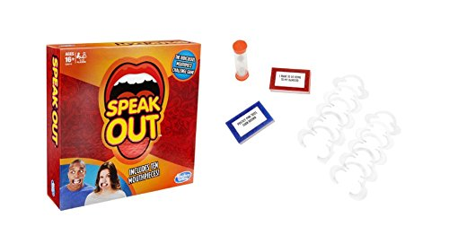 Speak Out Game Hilarious Fun for Family And Friends, Includes 10 mouthpieces, 200 Double-sided Cards, Timer, and Instructions (Used Arcade Basketball Game For Sale)