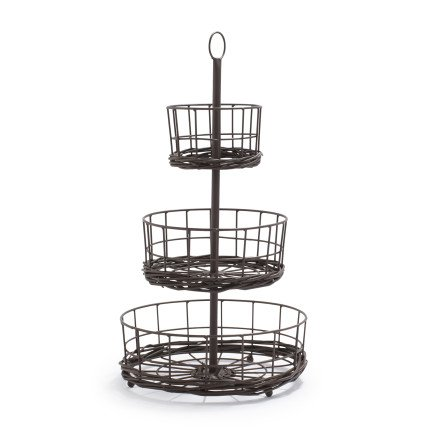 Sur La Table Madeline Three-Tier Standing Basket