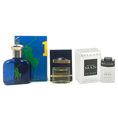 Boxed Fragrance (Mini Cologne Set for Men, 3 Piece Bundle Fragrance Collection. All Are Small Travel Size Fragrances; Individually Boxed; Splash-On)