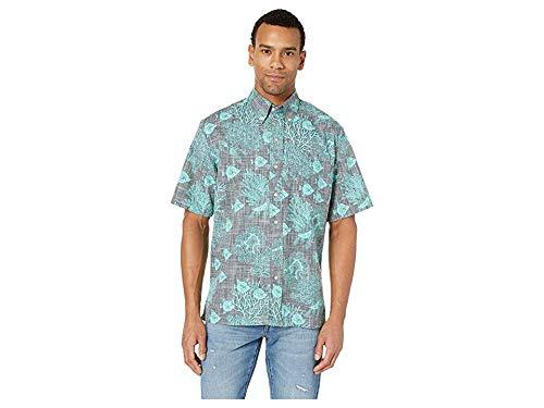 Reyn Spooner Men's Classic Fit Hawaiian Shirt, Scuba-Doo Dive - Blackened Pearl, S