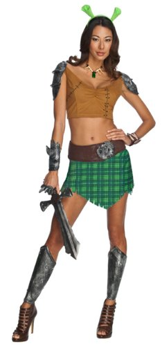 [Fiona Warrior Costume - Large - Dress Size 12-14] (Warrior Fiona Costumes)