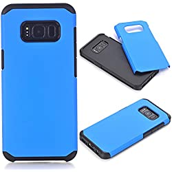 Galaxy S8 Plus Case, KMISS Dual Layer Shockproof Armor Hybrid Defender Anti-Drop Rugged Protective Case Cover For Samsung Galaxy S8+ (Blue)