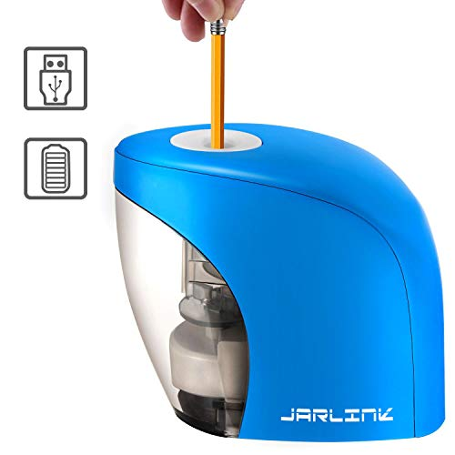 Electric Pencil Sharpener with Auto Feature, Portable Pencil Sharpener for No.2/Colored Pencils, School Supplies for Office Classroom (Batteries Not Included) by JARLINK