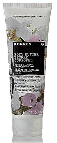 Korres Body Butter Apple Blossom Extra-Moisturizing Cream for Dry Skin 7.95 oz