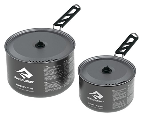 Sea to Summit Alpha POT Set, Grey, 1.2 L Pot & 2.7 L Pot by Sea to Summit