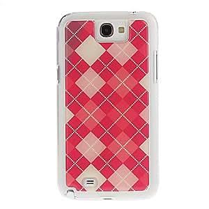 HOR Dibujo de la cubierta del gel del patrón de rejilla Red Neutral Stiffiness silicona de nuevo caso para Samsung Galaxy Nota 2 N7100