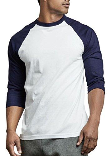eve Baseball TEE Shirt (Navy/White, Small) ()