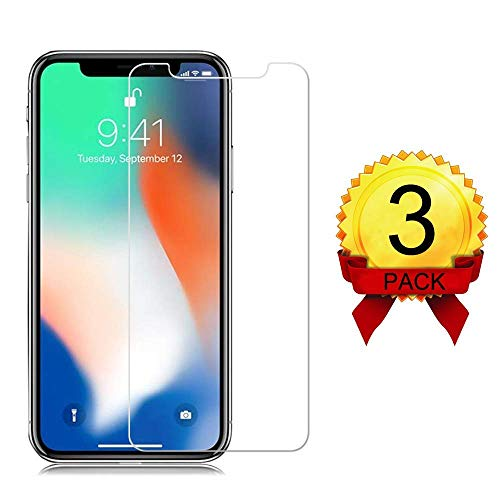 [3 Pack] iPhone Xs/X Glass Screen Protectors Eastoan iPhone Xs/X Tempered Glass Screen Protector [3D Touch] [9H Hardness] [No Bubble] Compatible with iPhone Xs/X[5.8 Inch]
