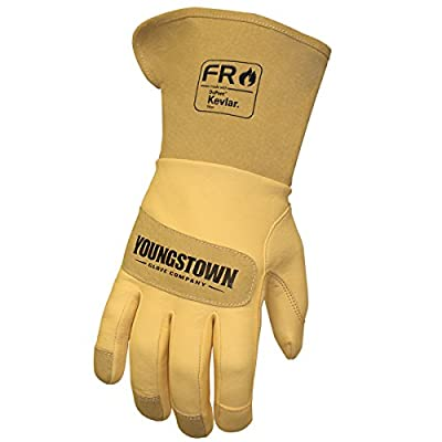 Youngstown Glove Company 12-3275-60-3XL FR Leather Lined with Kevlar Wide Cuff Performance Work Gloves,Tan