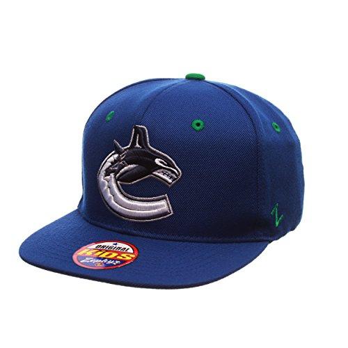 Zephyr NHL Vancouver Canucks Youth Boys Z11 Snapback Hat, Adjustable, Royal