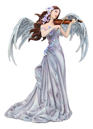 Ebros Large Inspirational Decor Angelic Lullaby Heavenly Angel Playing Violin Statue 10.75